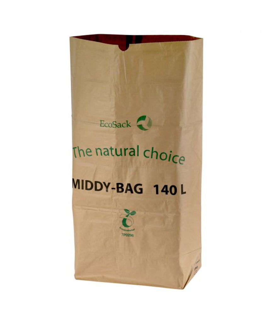 All Green Paper Bin Liners 140L - x5