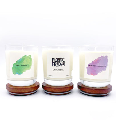 Plastic Freedom x Self Care Co Candle - Pine & Rosemary