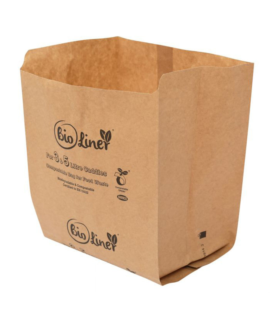 All Green Paper Bin Liners 3L/5L - x10