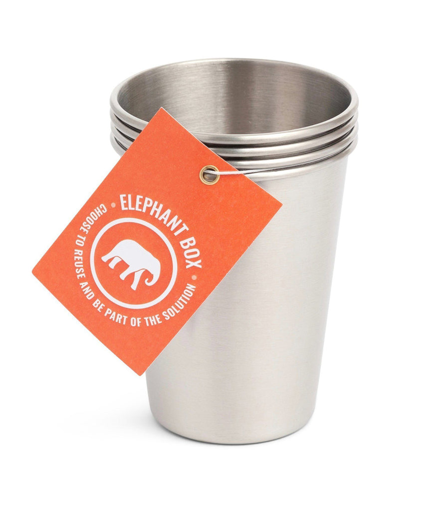 Elephant Box 350ml Cups - x4 Pack