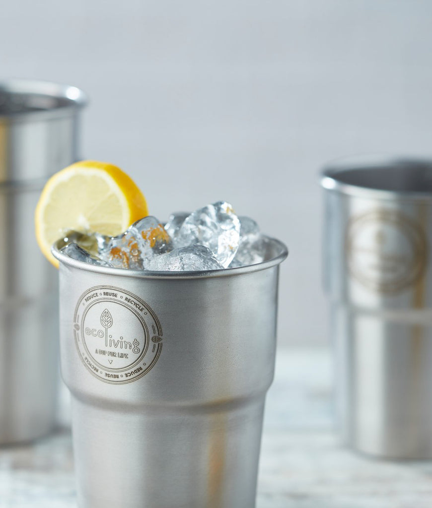 Eco Living British Stainless Steel UK Pint Cup - Single
