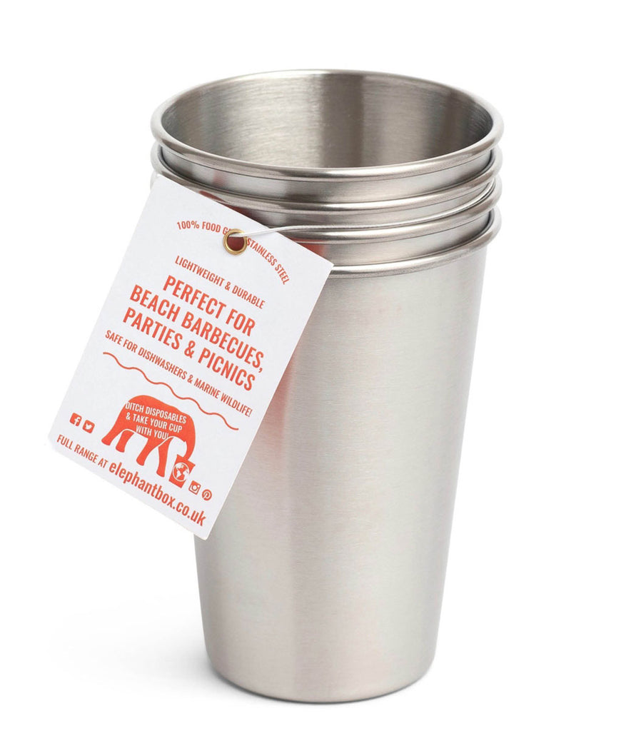 Elephant Box 600ml Cups - x4 Pack