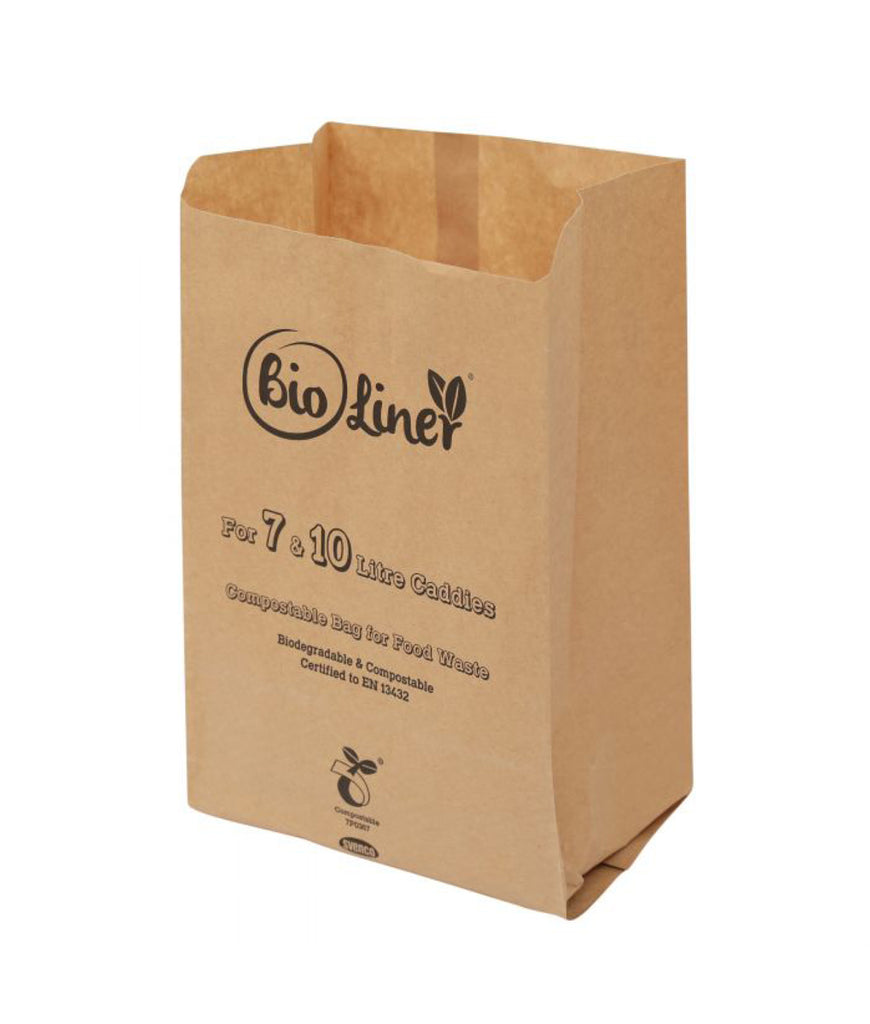 All Green Paper Bin Liners 7L/10L - x50