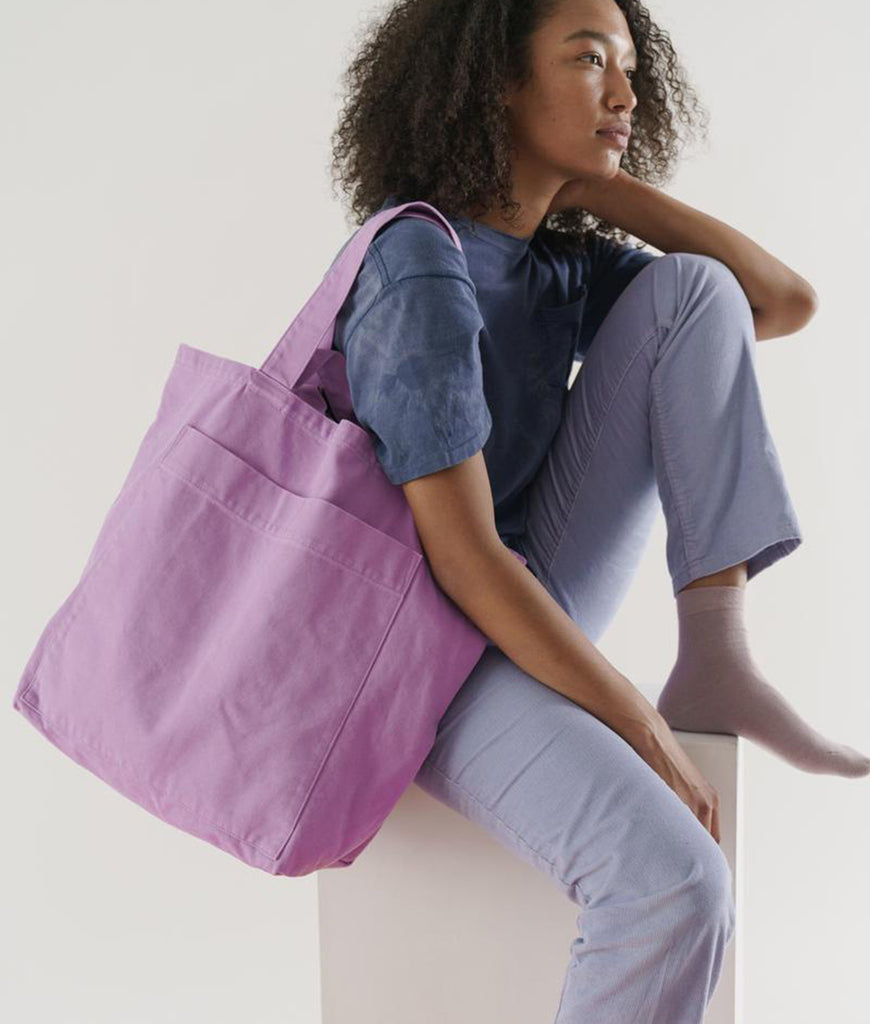 BAGGU Giant Pocket Tote Bag - Washed Mixed Berry