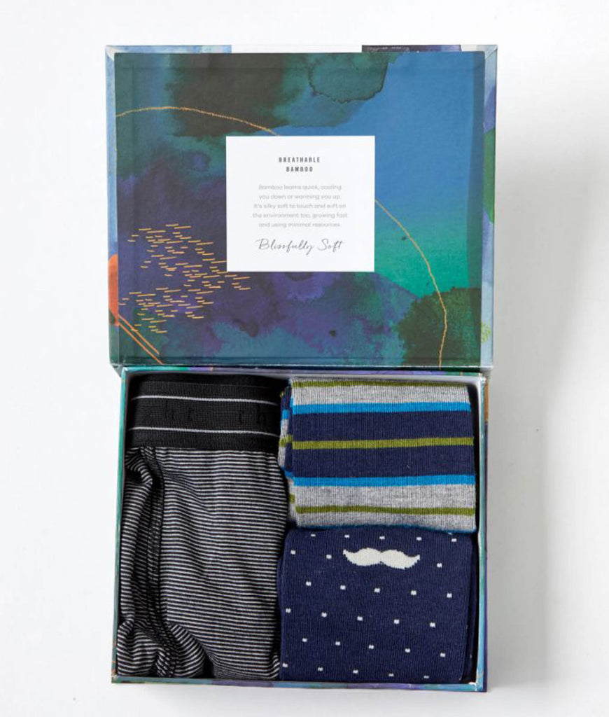 Thought Clothing Men's Boxer Briefs And Socks Box