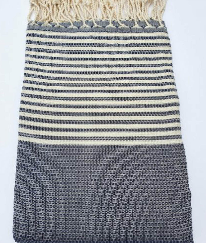 Cotton & Olive Thrace Hammam Towel - Navy
