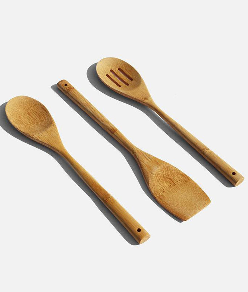 Zero Waste Club Bamboo Kitchen Utensil Set