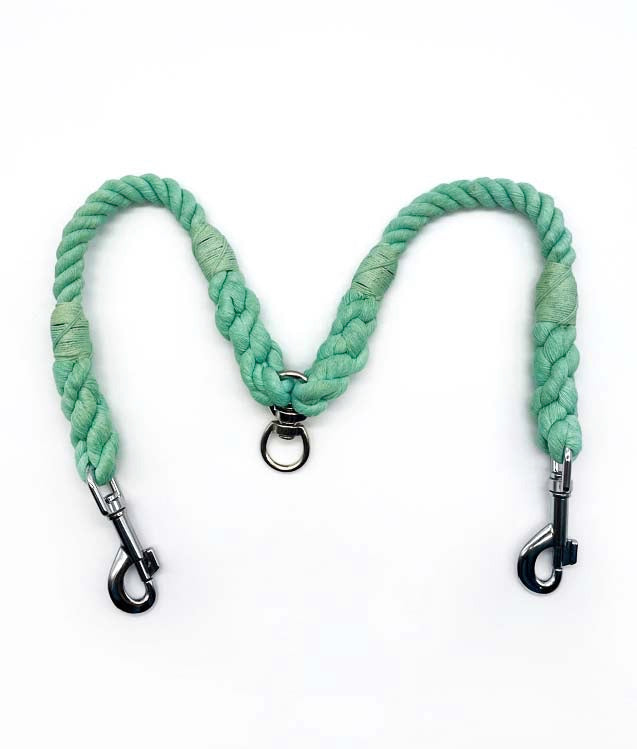 Jolly Hound Cotton Dog Lead Coupler - Mint