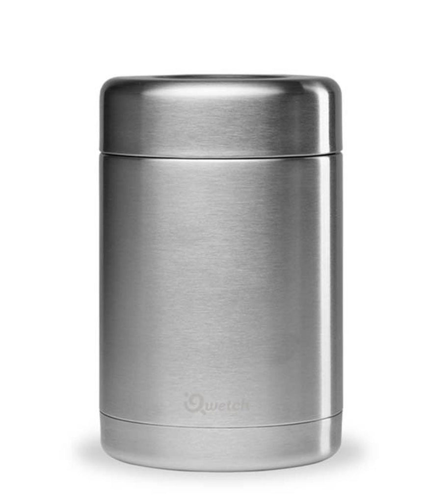 Qwetch Stainless Steel Food Jar Brushed Steel - 650ml