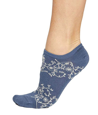 Thought Clothing Lattice Trainer Socks - Blue Slate
