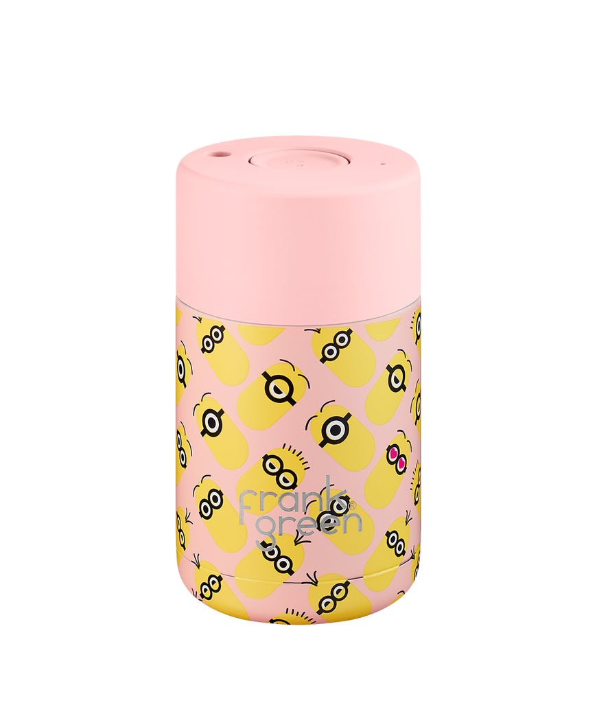 Frank Green Ceramic Reusable Cup 295ml - Blush Minions