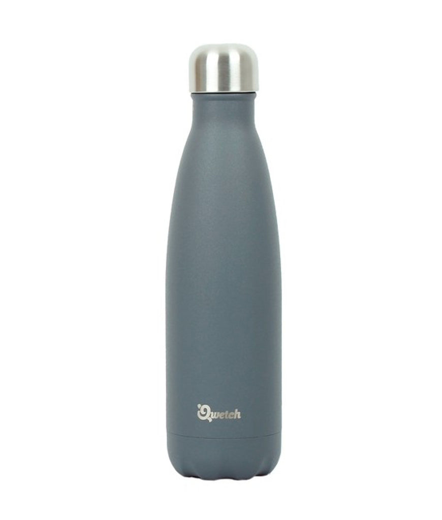 Qwetch Stainless Steel Water Bottle Granite Grey - 500ml