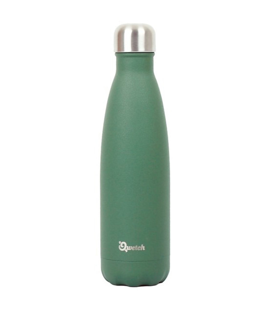 Qwetch Stainless Steel Water Bottle Granite Khaki - 500ml
