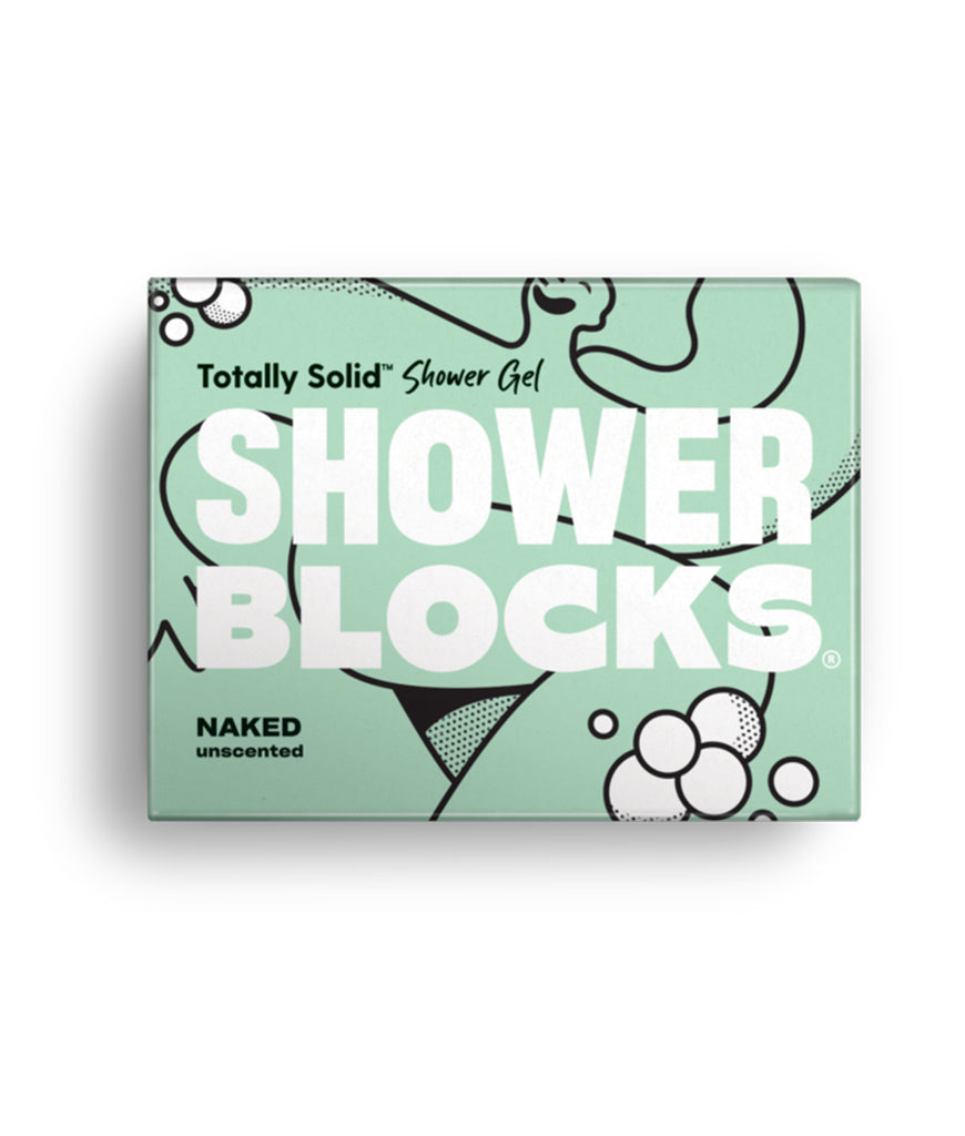 Shower Blocks Naked Unscented Solid Shower Gel - 100g