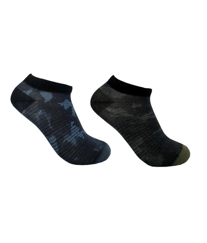 Tentree 2-Bottle Ankle Socks x2 Pack - Foliage Camo Pack