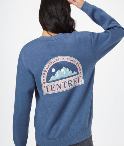 Tentree Adventure Boyfriend Crew - Spruce Blue Heather