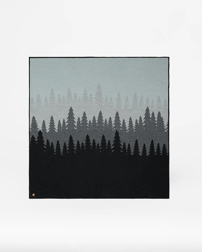 Tentree Cotton Juniper Blanket - Meteorite Black Juniper