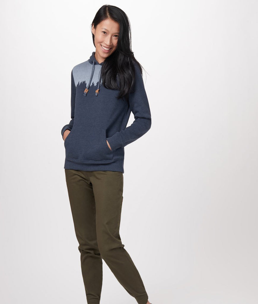 Tentree Juniper Hoodie - Dark Ocean Blue Heather