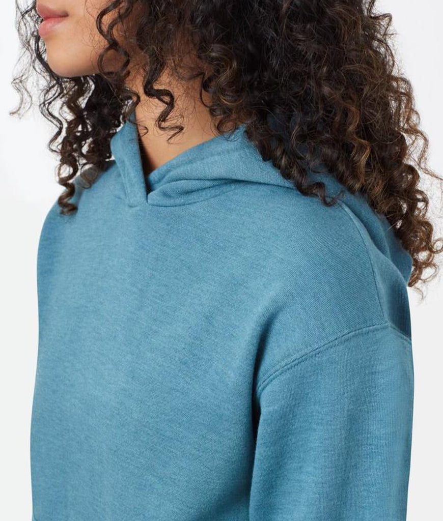 Tentree TreeFleece Boyfriend Hoodie - Tide Blue Heather