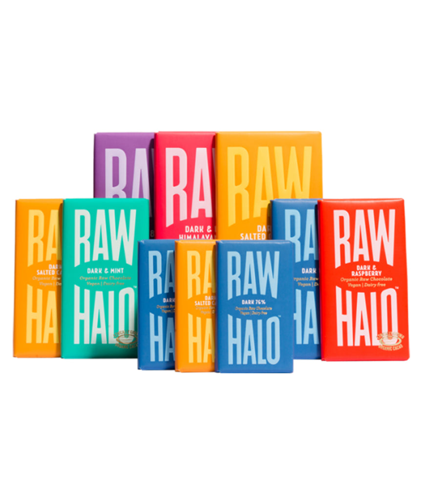 Raw Halo Vegan Dark Chocolate Gift Collection - x10 Bars