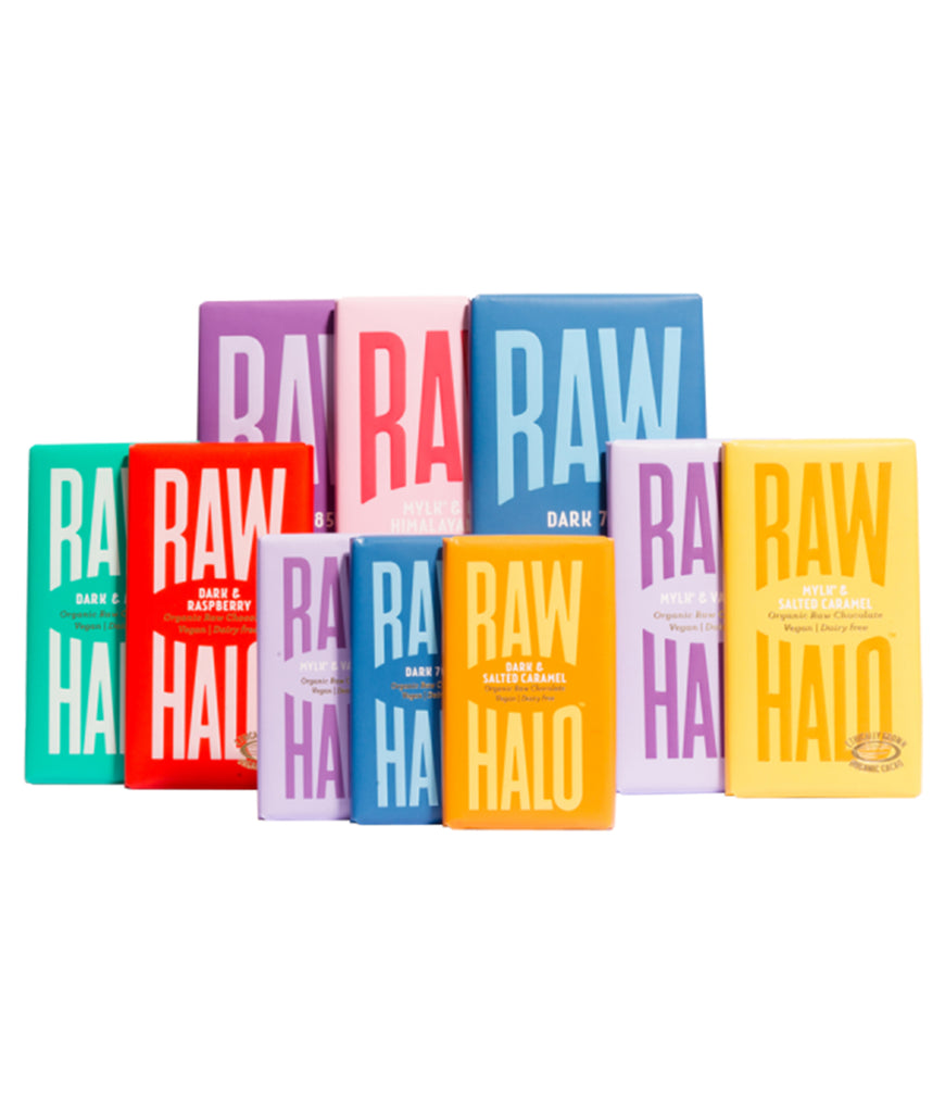 Raw Halo Vegan Chocolate Gift Collection - x10 Bars