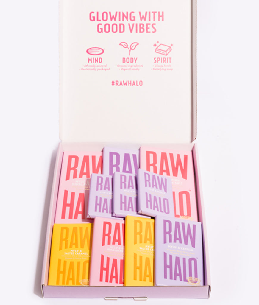 Raw Halo Vegan Mylk Chocolate Gift Collection - x10 Bars