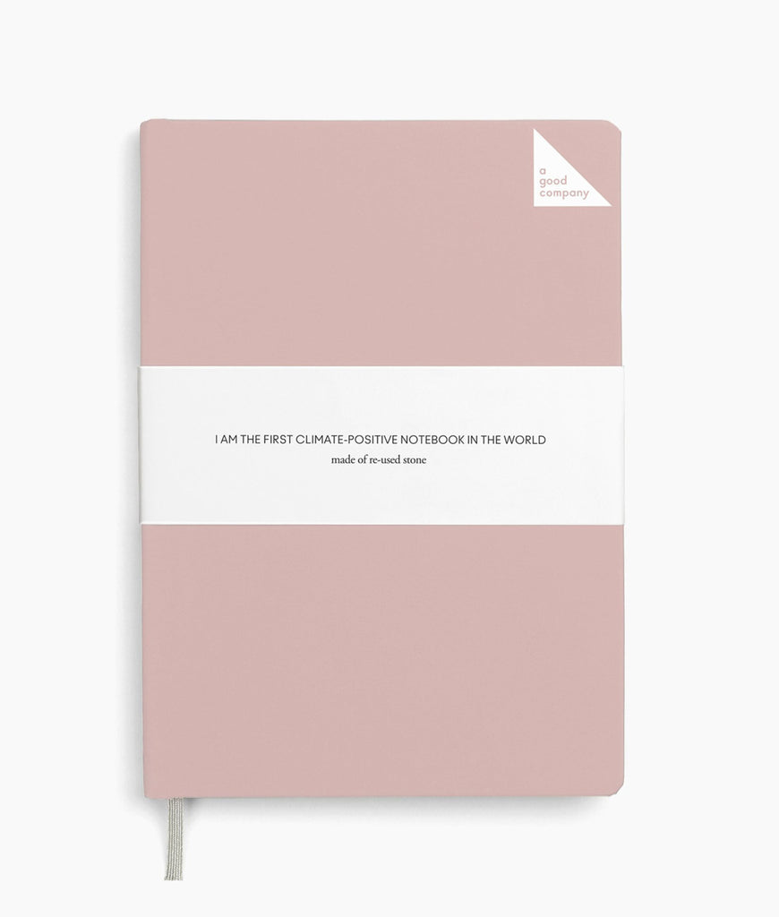 DAMAGED A Good Company Notebook A5 Lined - Dusty Pink