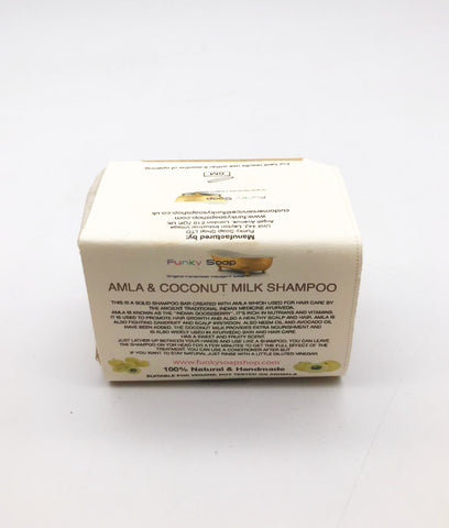 Funky Soap Amla & Coconut Milk Shampoo Bar - 120g