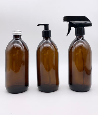 Plastic Freedom Glass Spray Bottle 500ml - Amber