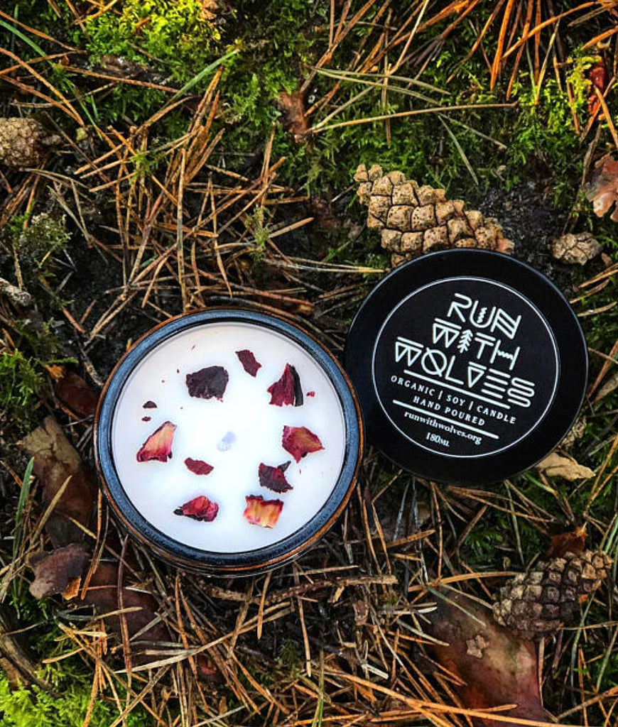 Run With Wolves Soy Wax Candle Amber Forest - MINI 60ml
