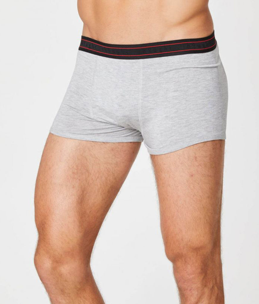 Thought Clothing Arthur Bamboo Boxers - Grey Marle