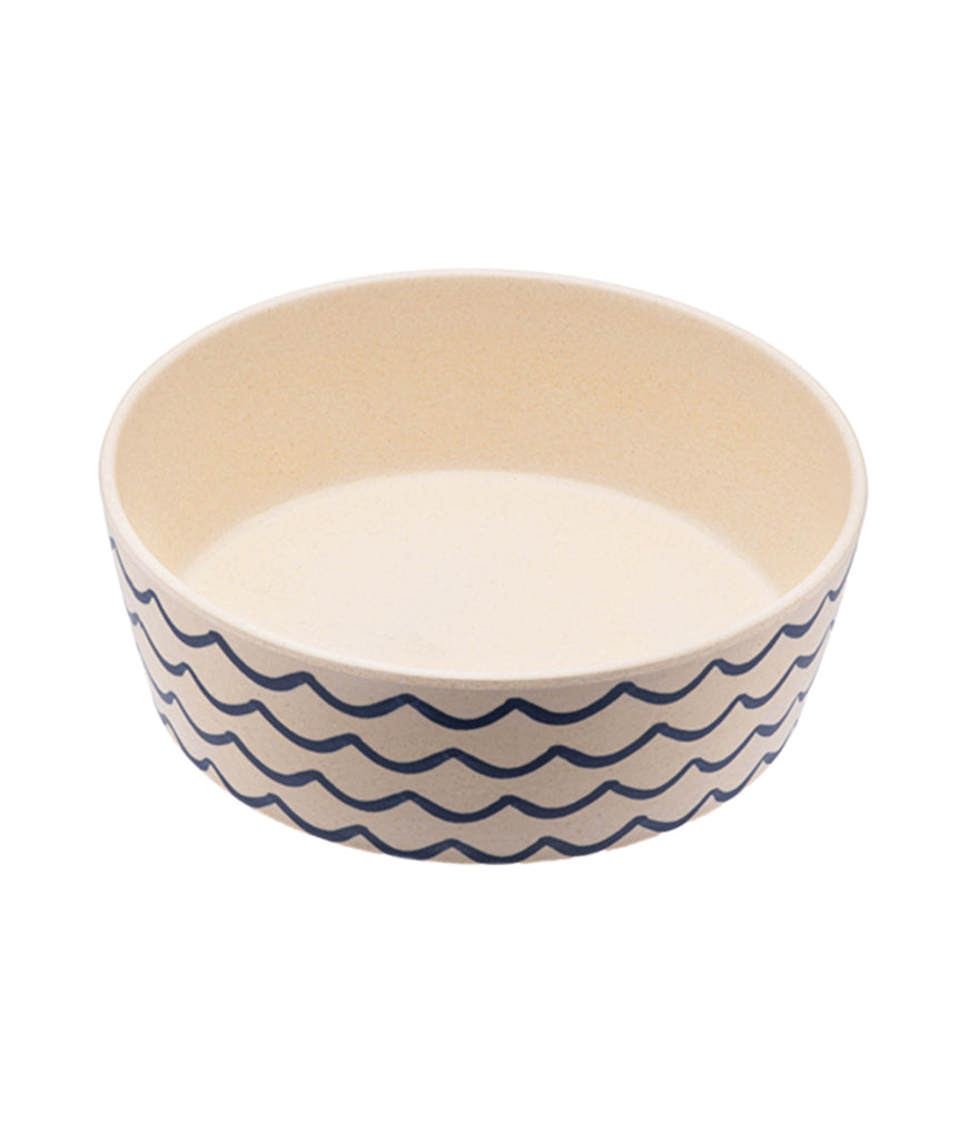 Beco Bamboo Small Dog Bowl - Ocean Waves