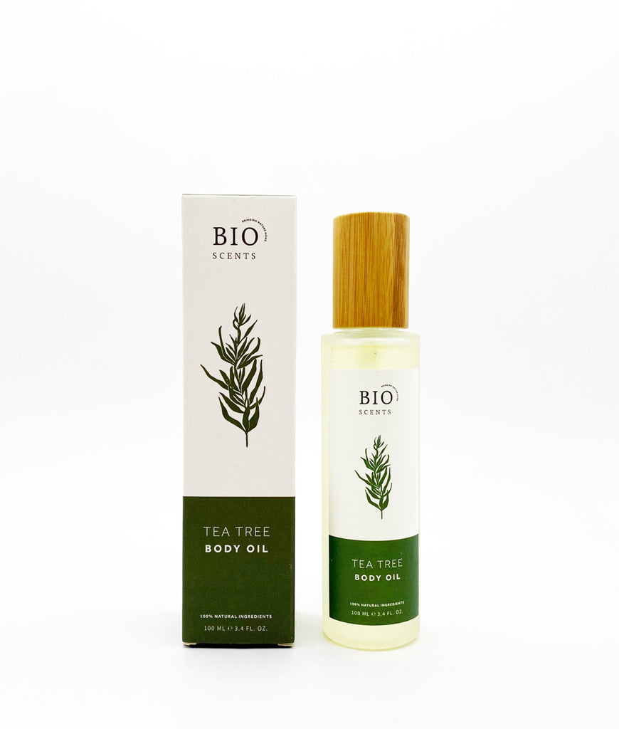 DAMAGED Bio Scents Tea Tree Body Oil 100ml - Pump Lid