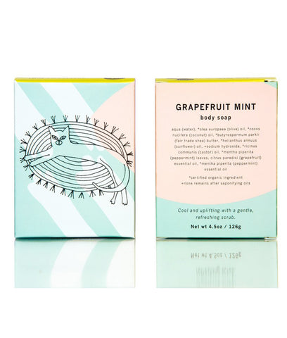 Meow Meow Tweet Grapefruit Mint Body Soap - 126g