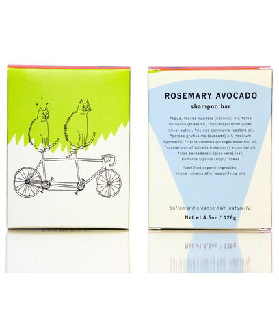 Meow Meow Tweet Rosemary Avocado Shampoo Bar - 126g