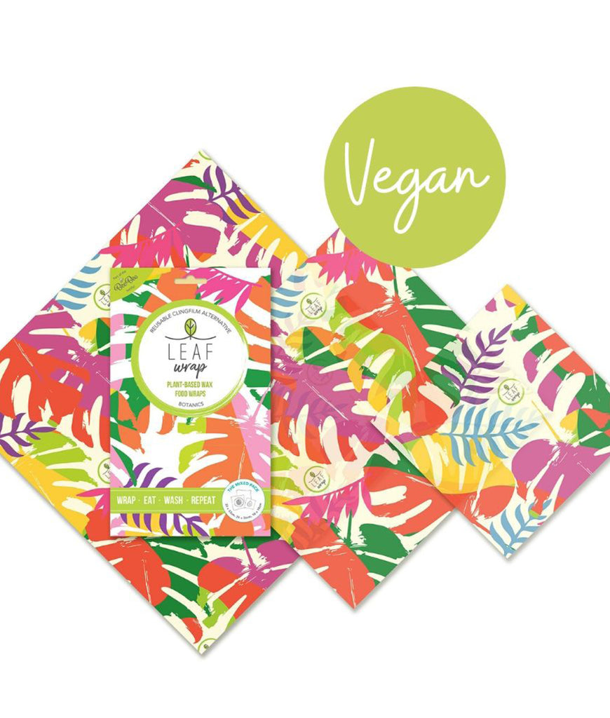 BeeBeeWraps Vegan Wax x3 Mixed Pack - Botanic