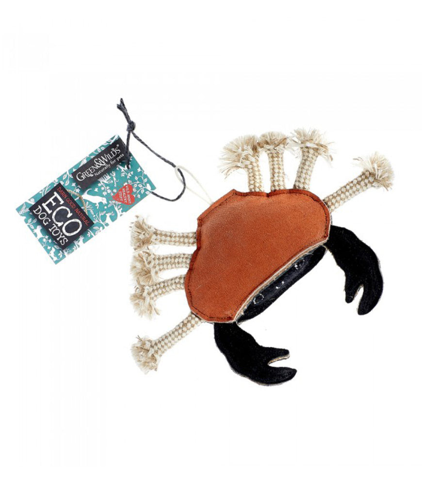 Green & Wild's Eco Dog Toy - Carlos The Crab