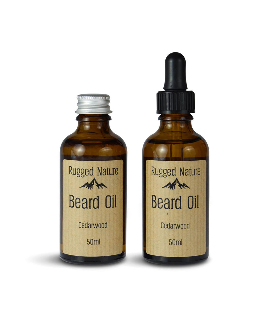 Rugged Nature Beard Oil 50ml Cedarwood - Aluminium Lid