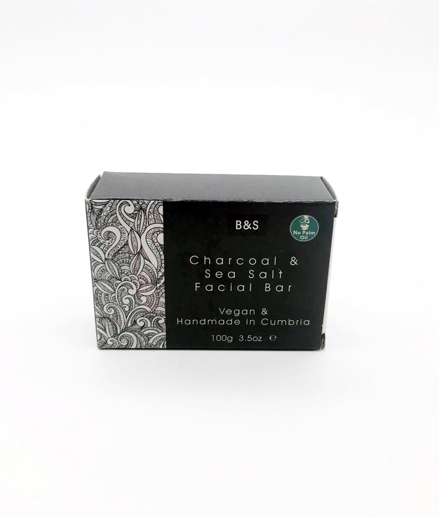 Bain & Savon Charcoal & Sea Salt Facial Bar - 100g