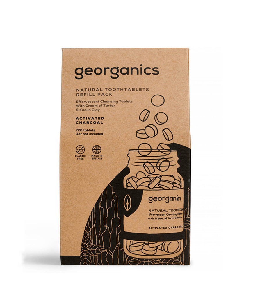 Georganics Toothpaste Tablets Activated Charcoal - x720