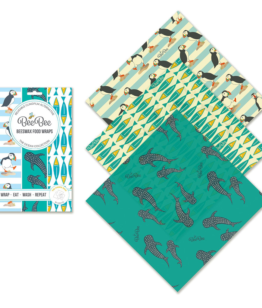 BeeBeeWraps Wax x3 Cheese Collection - Ocean