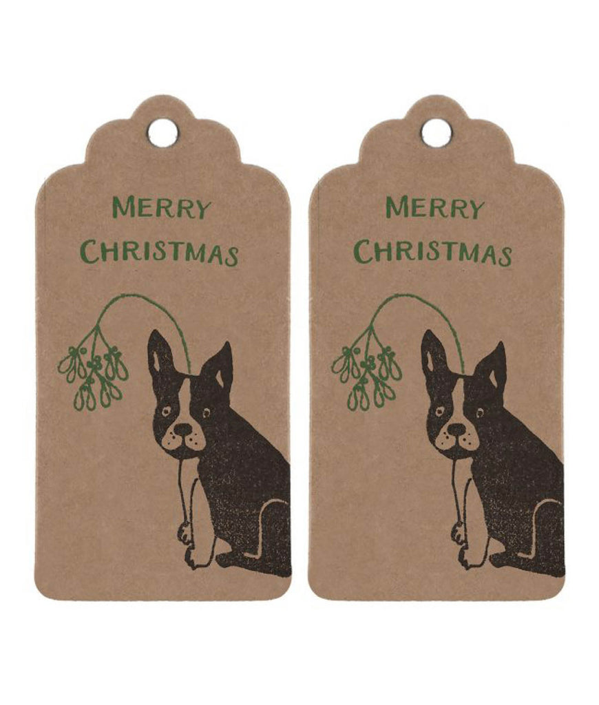Wrapped By Alice Christmas Gift Tag - Frenchie