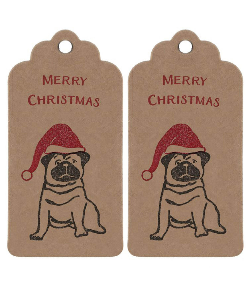 Wrapped By Alice Christmas Gift Tag - Pug