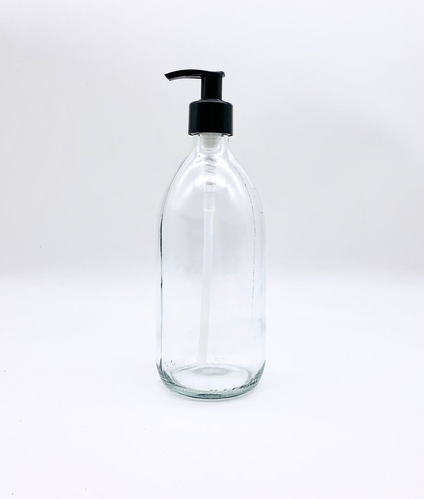 Plastic Freedom Glass Pump Bottle 500ml - Clear