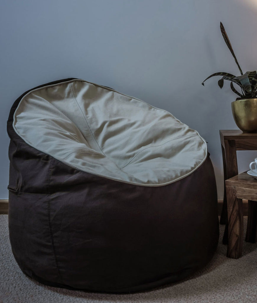 The Big Bean Bag Company Bean Chair - Cocoa & Cream