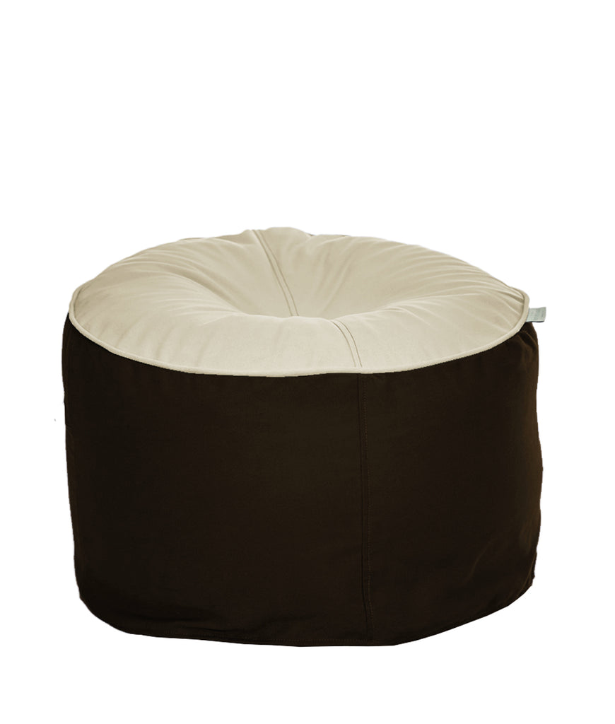 The Big Bean Bag Company Bean Stool - Cocoa & Cream
