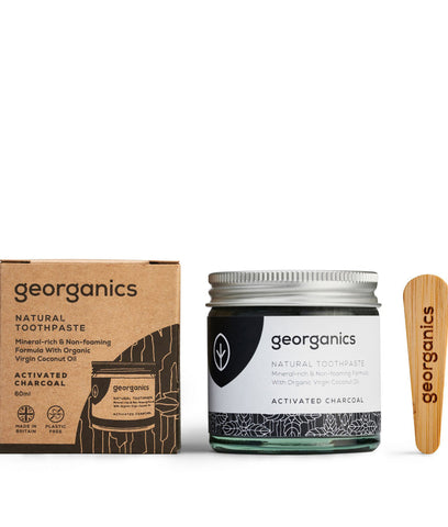 Georganics Coconut Oil Toothpaste Activated Charcoal - 60ml