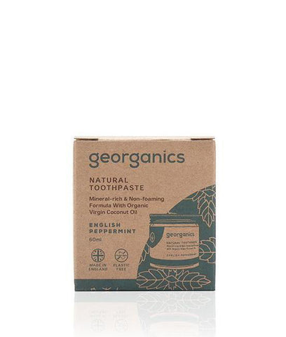 Georganics Coconut Oil Toothpaste English Peppermint - 60ml