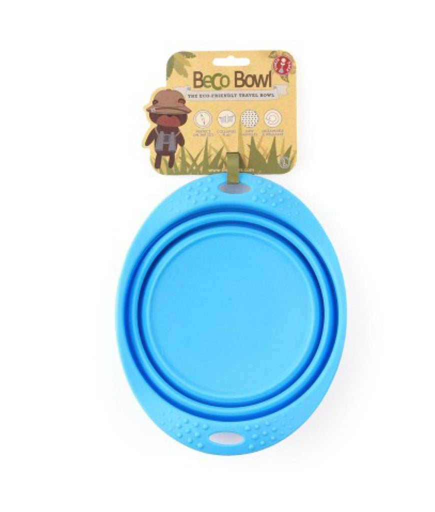 Beco Collapsible Travel Bowl - Blue