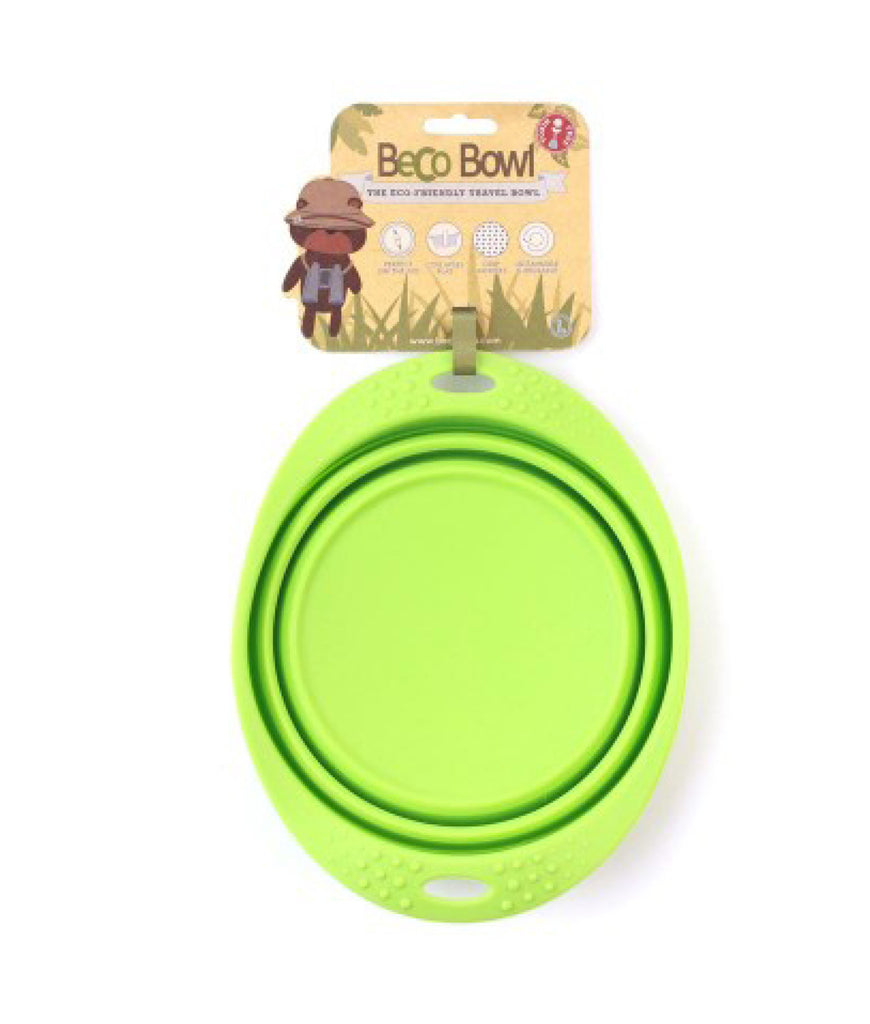 Beco Collapsible Travel Bowl - Green